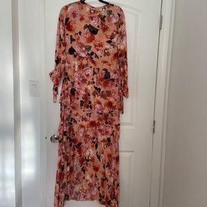 Jaase, size L, beautiful floral maxi dress